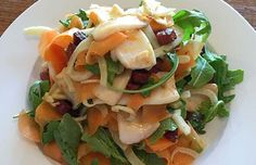 This fennel, carrot and squid salad is a perfect lunch or light dinner on a warm day. SIBO-friendly, low FODMAP, paleo, gluten free, dairy free, sugar free, grain free. #SIBORecipe #SIBODiet #SIBOMealPlan