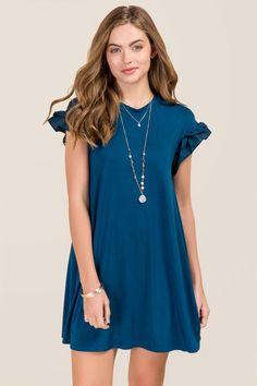 Elana Ruffle Sleeve Knit Dress