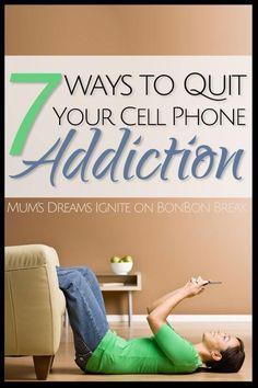 7 ways to quit your cellphone addiction - great self help ideas! Phone Detox, Cell Phone Addiction, Nicotine Addiction, Addiction Help, Addiction Recovery, Smartphone, Social Media Detox, Digital Detox, Stress Management