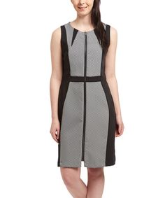 Another great find on #zulily! Black & White Gingham Sheath Dress #zulilyfinds