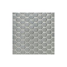 "Daltile SS50-11HEXMS1P-SAMPLE Metallica Brushed Stainless Steel 1"" x 1"" Hexagon Brushed Stainless Steel Tile Sample"