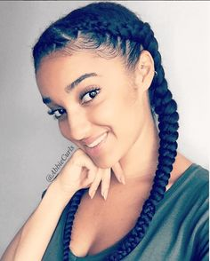 Try This Fantastic Feed-In Braids Tutorial with extensions for an awesome protective style that gives your hair a break and allows it to grow. Loose French Braids, French Braid Ponytail, French Braid Hairstyles, Braided Hairstyles Tutorials, My Hairstyle, Weave Hairstyles, Girl Hairstyles, Braid Tutorials, Black Hairstyles