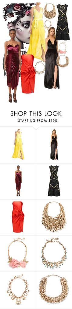 """""""Party Dresses - holiday choice"""" by lalu-papa ❤ liked on Polyvore featuring Roberto Cavalli, The Jetset Diaries, Preen, Jil Sander, Lanvin, Kenneth Jay Lane, Oscar de la Renta and Valentino"""