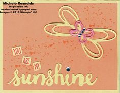 Handmade card using Stampin' Up! products - Sunshine Sayings Stamp Set, Gorgeous…