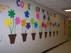 Put kids name on each of the flowers