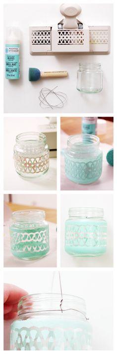 Turn old baby food jars into adorable mini lanterns/vases! #trashtotreasure #blitsy