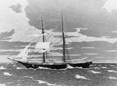 Mystery of the Mary Celeste - The Cursed Abandoned Ship. November brigantine the Mary Celeste leaves New York, bound for Genoa, Italy, under comma. Mary Celeste, Carolina Do Norte, Abandoned Ships, Bermuda Triangle, Loch Ness Monster, Ghost Ship, Mystery Of History, Shipwreck, Newport