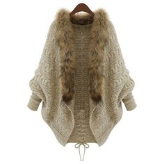 Open Front Cable Cardigan ($66) ❤ liked on Polyvore featuring tops, cardigans, oasap, long cable knit cardigan, open front cardigan, long tops, brown open front cardigan and cable knit cardigan