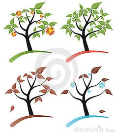Tree four seasons stock vector. Illustration of trunk - 19355692 Family Room Walls, Tree Of Life, Image Photography, Four Seasons, Soap Making, Symbols, Illustration, How To Make, Moving Forward