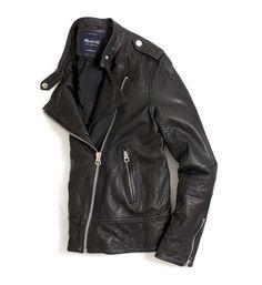 madewell washed leather epaulet jacket. #everydaymadewell