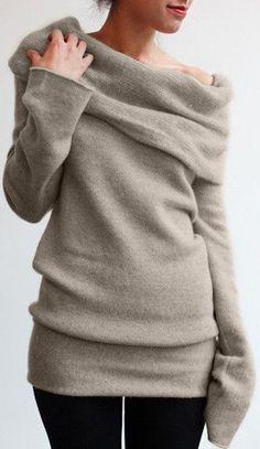 Almond Cowl Neck Sweater