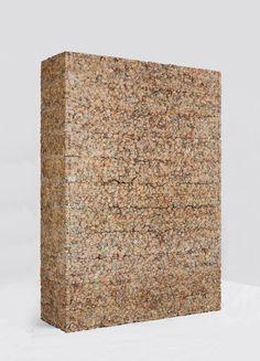 Artist: Manish Nai, Newspaper, minimalist sculpture, Galerie Mirchandani + Steinruecke, Mumbai.