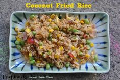 Fried rice with coconut rice Other Recipes, Great Recipes, Favorite Recipes, Frozen Vegetables, Mixed Vegetables, Budget Recipes, Budget Meals, Coconut Fried Rice, Rice Side Dishes