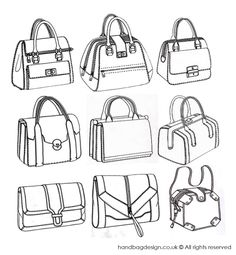 Structured handbag designs by Emily O'Rourke