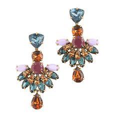 Jeweled fan drop earrings / by J.Crew