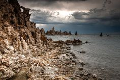Mono Lake during a storm by chuckplumber on DeviantArt