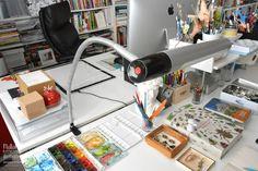 Studio of artist and illustrator Natalie Ratkovski