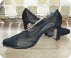 Vintage 90s AvantGarde Black Sheer Mesh Illusion by IntrigueU4Ever, $28.50