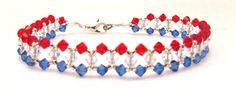 God Bless America Crystal Anklet by EledesignbyLauren on Etsy, $22.00