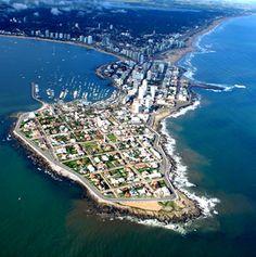 Vista aerea de la peninsula de Punta del Este, departamento de Maldonado - Uruguay
