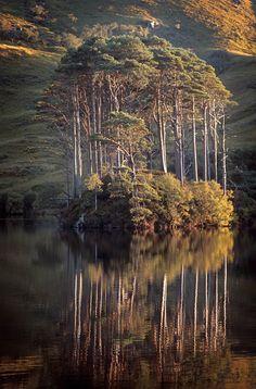 Beautiful Scottish Loch in Perfect Reflection I John Brown