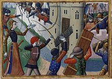 The siege of Paris was undertaken in 1429 by the French troops of King Charles VII , with the notable assistance of Joan of Arc , to take the city held by the allied Anglo-Burgundian. The royal troops failed to enter Paris , defended by the governor Jean de Villiers de L