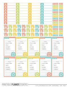 YouTube Planner Stickers Summer