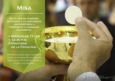 #MisaFCCTP   Encuentra un nuevo espacio para el crecimiento espiritual en nuestro Oratorio. Este mes de febrero celebraremos dos misas a cargo del Padre Oswaldo Palomino.