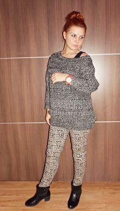 Skezjablog : Sweter oversize i leginsy