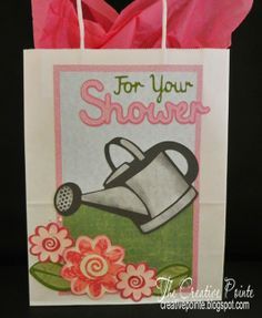 Gift Bag--SVG For Your Shower Heading, Flower Set One and Watering Can