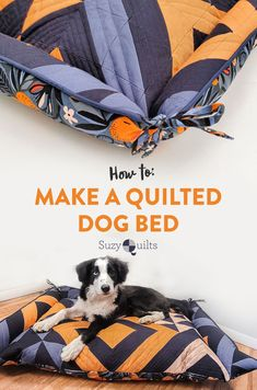 Snuggly quilts aren't just for humans! Make a quilted dog bed for your favorite furry friend with this free tutorial from suzyquilts.com. Great step-by-step instructions with photos for every step in the process! #sewingproject #DIYdogbed #freetutorial Quilting Tutorials, Sewing Tutorials, Quilting Projects, Sewing Diy, Sewing Hacks, Sewing Projects, Quilt Patterns, Sewing Patterns, Diy Dog Bed