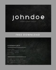 You are getting a smart double sided business card template here chalkboard business card template design cheaphphosting Image collections