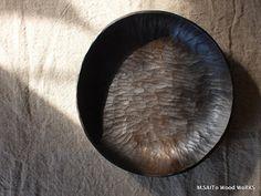 M.SAITo Wood WoRKS   flat black oval bowl 300 0149