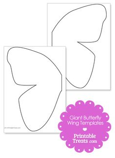 Printable Giant Butterfly Wings Template from PrintableTreats.com