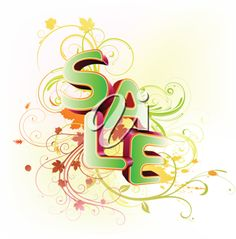 iCLIPART - Vector illustration of a Spring sale styled design on an abstract floral background