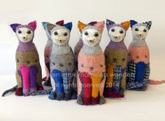 my new batch of Harris Tweed cats