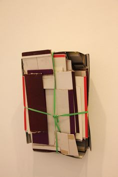 """""""Cardboard pack"""" Carlos Bunga. Exposición Colectiva """"25 años""""Galería Elba Benitez #Madrid #Arte #ArteContemporáneo #Arterecord 2015 https://twitter.com/arterecord"""