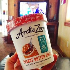 """""""Because [Saturday] afternoons call for #ARCTICZERO and Fixer Upper. I may or may not be eating this for lunch.I'm a grown adult woman, I can eat ice cream [alternative] for lunch on the weekends.Plus, it's like super duper healty [dessert]. Absolutely no guilt here  This new flavor is rocking my world. Peanut butter, good. White chips, good. What's not to love?!"""" . Now that is #adulting done right, @groundsurround! #lactosefree #glutenfree #GMOfree #lowcalorie #lowfat #lowgl..."""