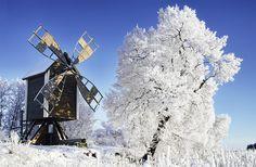 Old Windmill at Vasikkasaari, just outside the harbor in Kuopio, Finland.