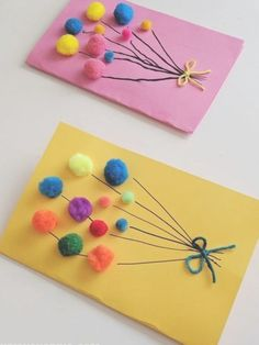 Pom Pom Balloons Birthday Card, on balloon birthdaycard birthdays birthday . Pom Pom Balloons Birthday Card, on balloon birthdaycard geburtstags geburtstagskarte balloon balloons birthday birthdaycard birthdays Card diybeauty diyclothes diycrafts Homemade Birthday Cards, Kids Birthday Cards, Birthday Crafts, Card Birthday, Birthday Ideas, Bday Cards, Birthday Wishes, Daycare Crafts, Preschool Crafts