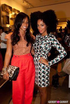 Shiona Turini and Solange Knowles