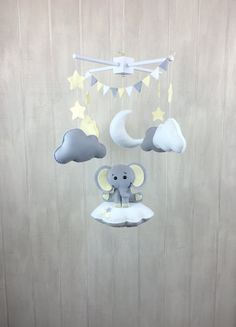 Baby mobile elephant mobile cloud babies by littleHooters