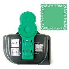 We R Memory Keepers - Lucky 8 Punch - Border and Corner Punch - Vine Bracket, COMING SOON at Scrapbook.com $39.99  LOVE THESE PUNCHES!!!