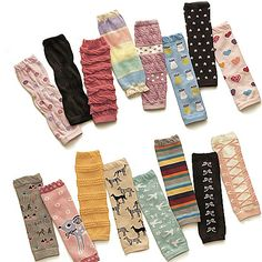 TopTie Baby Leg Warmer, Set for Toddler Boys, 6 Pairs Assorted Designs