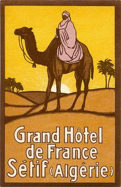 Art of the Luggage Label: Grand Hotel, Algiers