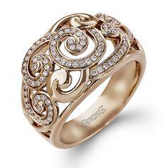 Simon G Jewelry band can be smelt Beth Cyr 18K Pink Au, RavensRefuge 18K Rose Au, Reinstein Ross 20K Peach Au