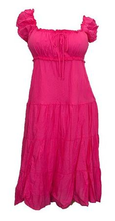 Plus Size Pink Cotton Empire Waist SunDress 3x thru 5x $39.99