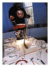 Carolyn Dempsey creates a hockey-theme bar mitzvah Hockey Centerpieces, Bar Mitzvah Centerpieces, Centrepieces, Hockey Girls, Hockey Mom, Hockey Stuff, Hockey Party, Sports Party, Hockey Tournaments
