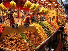 Barcelona Spain Market   Barcelona. Mercado de Boquería. Boquería Market. Barcelona, Spain