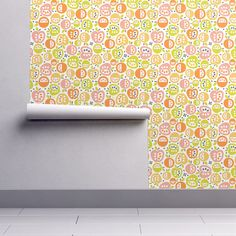 Isobar Durable Wallpaper featuring Apples & Oranges by christinewitte   Roostery Home Decor